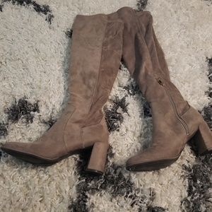 Liz Claiborne over the knee suede boots